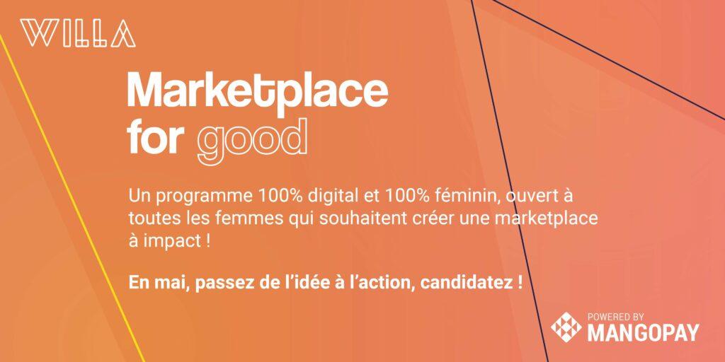Mangopay lance Marketplace for good avec Willa