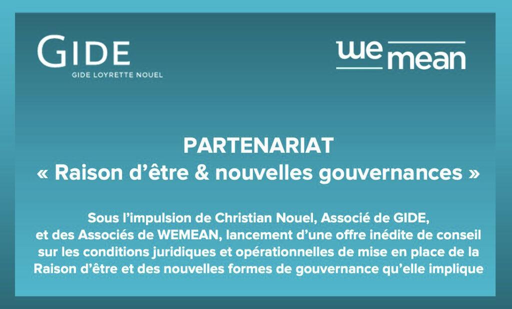 Nouvelles gouvernances : partenariat inédit entre WEMEAN et Me Christian Nouel, associé de Gide Loyrette & Nouel